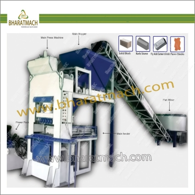 BHA-202EF (6cvt.) Automatic Fly Ash Brick & Block machine with Feeder pushing
