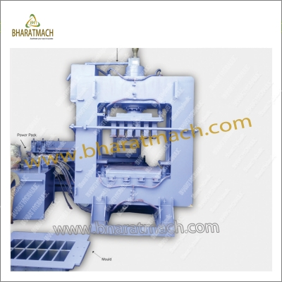 BHA-302B (12cvt.) Automatic Fly Ash brick Machine with Vibro.