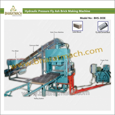 BHS-303E (6cvt.) Hydraulic Fly Ash Brick Machine with Lever operated