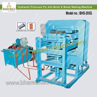 BHS-203G (3cvt.) Hydraulic pressure Fly Ash Brick & Block Machine