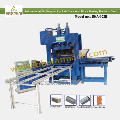 BHA-102B (12cvt.) Automatic Multi Purpose Brick & Block Machine