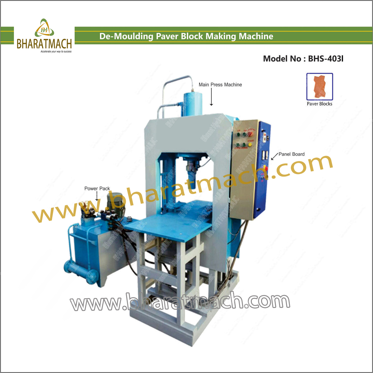 Semi Auto. Interlock Paver Block Machinery