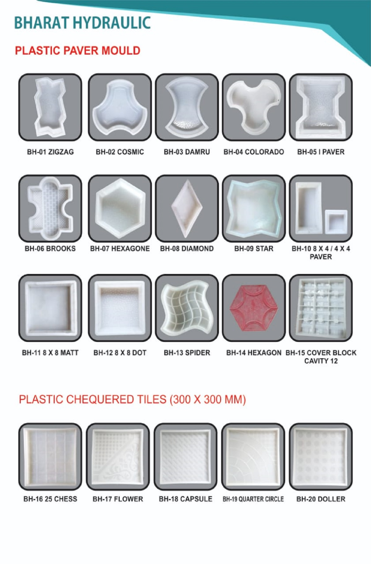 Plastic Paving & Tiles Mould